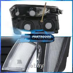 For 02-06 Chevy Avalanche Body Cladding Headlights + Bumper Signal Lamps Black