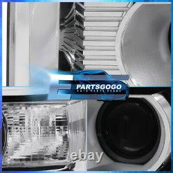 For 14-18 GMC Sierra 1500 / 15-19 2500HD Black Clear Projector Headlights Lamps