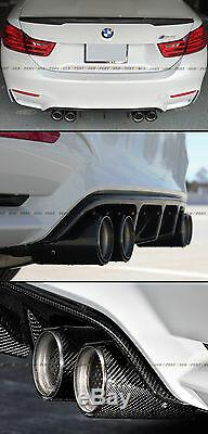 For 2015-2019 Bmw F80 M3 F82 M4 Carbon Fiber Stainless Exhaust Tip Finishers X 4