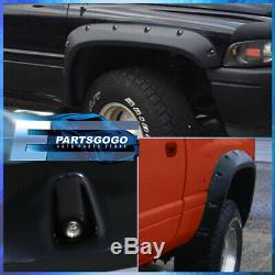 For 94-02 Dodge Ram 1500 2500 3500 Pocket Rivet Style Wheel Well Fender Flares