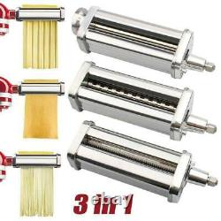 For KitchenAid Pasta Roller Cutter Maker 3-piece Stand Mixer Attachment Set New