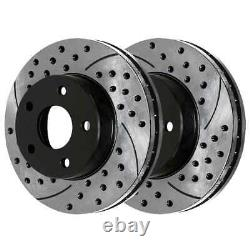 Front Rear Drilled Slotted Brake Rotors for 2004-2009 Durango 2002-2018 Ram 1500