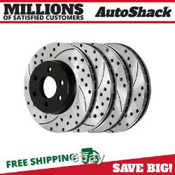 Front & Rear Drilled Slotted Disc Brake Rotors Set of 4 for Chevrolet Astro 4.3L