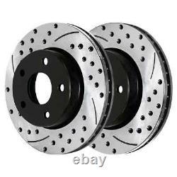 Front & Rear Drilled Slotted Disc Brake Rotors Set of 4 for Chevy Camaro V6 V8