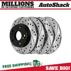 Front & Rear Drilled Slotted Disc Brake Rotors Set of 4 for Honda Civic 2.4L