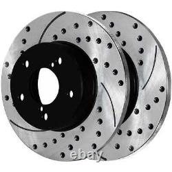 Front & Rear Drilled Slotted Disc Brake Rotors Set of 4 for Subaru Impreza 2.5L
