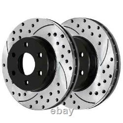 Front Rear Drilled Slotted Rotors and Ceramic Pads for 2003-2006 Ford Expedition