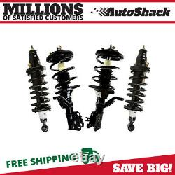 Front and Rear Complete Strut Assembly for 2003 2004 2005 Honda Civic