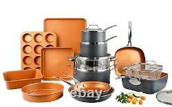 Gotham Steel 20 Piece Nonstick Cookware & Bakeware Set 3 Available Colors