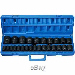 Grey Pneumatic 1326M 26 Piece 1/2 Drive Shallow Metric Impact Socket Set