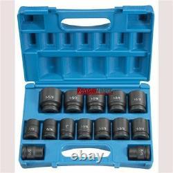 Grey Pneumatic 8038 3/4 Drive 14 Piece SAE Impact Socket Set