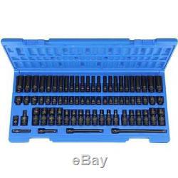 Grey Pneumatic 9772 72 Piece 1/4 Drive Metric and Fractional Impact Socket Set