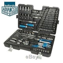Halfords Advanced 120 Piece Car Maintenance Ratchet Spanner Set Socket Kit