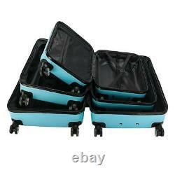Hardside 3 Piece Nested Spinner Suitcase Luggage Set With TSA Lock