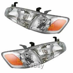 Headlight Headlamp Corner Light Lamp Kit Set of 4 for 00-01 Toyota Camry NEW