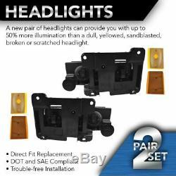 Headlights & Corner Parking Lights Left & Right Set Kit for 90-93 Chevy Truck