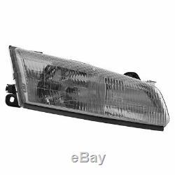 Headlights Headlamps & Corner Parking Lights Kit Set for 97-99 Toyota Camry