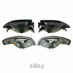 Headlights & Parking Corner Lights Left & Right Pair Set for 94-98 Ford Mustang