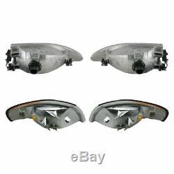 Headlights & Parking Corner Lights Left & Right Pair Set for 94-98 Mustang Cobra