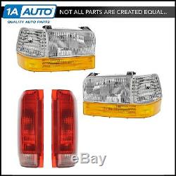 Headlights Parking Corner Lights & Taillights 8 Piece Kit Set for Ford Truck