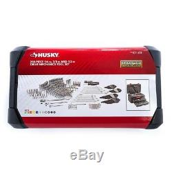 Husky Mechanics 268-Piece Tool Ratchet Set Sockets and Wrenches Kit withCase NEW