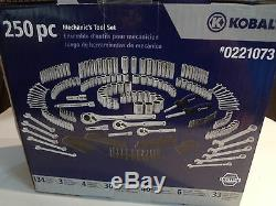 Kobalt 250-Piece Mechanic's Tool Set (#0221073) New
