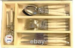 Laguiole Flatware Set of 16 Pieces with Ivory Handle -Thiers France