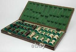 Large Wooden Chess 21 Inch Full Set Vintage Game Gifts Hand Carved Board Pieces