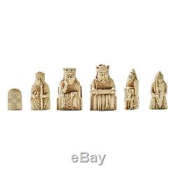 Lewis Chessmen Chess Set Based on Pieces from the National Museum of Scotland