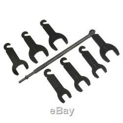 Lisle 7-Piece Pneumatic Fan Clutch Wrench Set 43300 New
