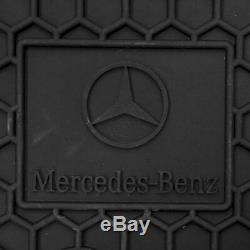 MERCEDES BENZ Q6680665 Floor Mats Black Rubber Set of 4 for C250 C300 C350 C63