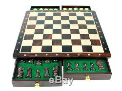 Magnetic Chess Set Pieces Rose wood Galaxy Staunton King Size 3 with Board/Box