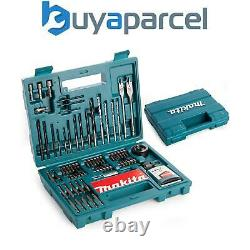Makita 100 Piece Power Drill Bit Set Screwdriver Set Holesaw Masonry HSS PZ2 +
