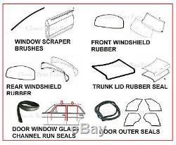 Mercedes W123 Door Window Windshield Trunk Rubber Seals Complete Set 15 Pieces
