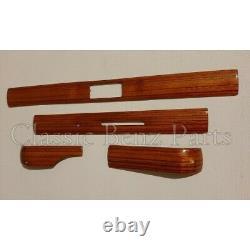 Mercedes W123 Zebrano Wood Dashboard Trim Set 4 Pieces