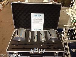 Mexco 11 Piece Dry Diamond Core Drill Bit Set Boiler flue Soil Pipe Etc NEW