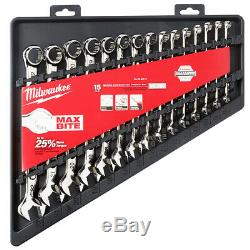 Milwaukee 48-22-9515 15-Piece Metric Open-End Combination Wrench Set