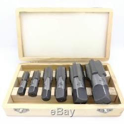 NEW 6 Piece NPT Taper Pipe Tap Set 1/4 thru 1 1/4 With Wooden Box. Full Set