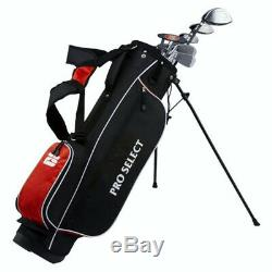 NEW Pro Select Red 13 Piece Complete Golf Set with Driver, Irons, Bag, Putter Regular