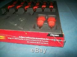 NEW Snap-on Instinct Orange Hard Handled 8piece Screwdriver SET SHDX80O Sealed