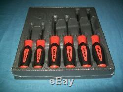 NEW Snap-on Instinct Orange Soft Handled 6-piece Screwdriver SET SGDX60BO