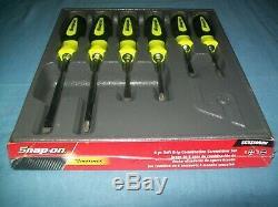 NEW Snap-on Instinct Yellow Soft Handled 6-piece Screwdriver SET SGDX60BHV