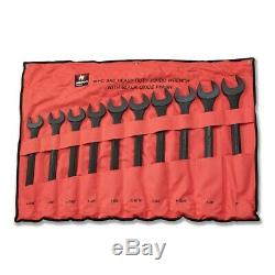 Neiko 03129A 10 piece SAE Black-Oxide Jumbo Combo Wrench Set