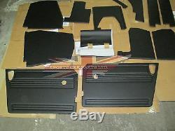 New 13 Piece Interior Panel Set w Door Panels for MG Midget 1970-79 Made in UK