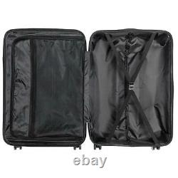 New Blue 3 Pieces Travel Luggage Set Bag ABS Trolley Carry On Suitcase TSA Lock