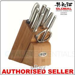 New GLOBAL 10 Piece TAKASHI Kitchen Knife Block Set Made in Japan 10pc Knives