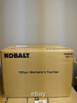 New Kobalt 319-Piece Standard + Metric Chrome Mechanic's Ratchet Tool Set