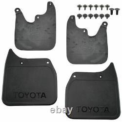 OEM 4 Piece Mud Flap Splash Guard Set Molded Black Plastic for Toyota Tacoma 2WD