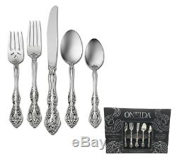 Oneida 45 Piece 18/10 Stainless Flatware Set, Service for 8 Choice of Pattern