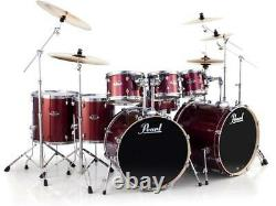 Pearl Export EXX 8-piece Double Bass Drum Set with Hardware Burgundy